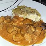recette Sauté de porc au lait de coco et curry rouge