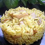 recette Riz Safrané aux trois Champignons