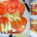 recette SANDWICH AU SAUMON FUME