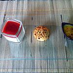 recette Dessert gourmand (panna cotta, crème pistache, muffin)
