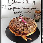 recette gâteau fraise-sureau façon crumble avoine