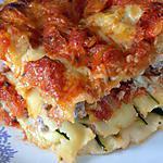 recette Lasagnes courgettes et chair à saucisses