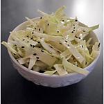 Salade de choux blanc au sésame