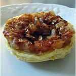 recette Tartelette tatin de chèvre et oignons caramélisés
