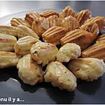 recette Madeleines chèvre, abricots, noisettes