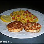 recette Croquette de saumon et sa salade de maïs, poivron