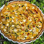 recette Quiche aux courgettes, jambon et fêta