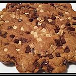 recette One pan cookie chocolat noir et blanc
