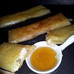 recette Nems croustillante au chévre sauce au miel