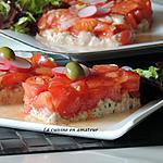 recette Tomates sur une mousse de thon