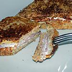 recette Croque-perdu jambon chèvre dukan