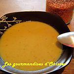 recette Crème de lentilles corail