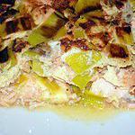 recette Omelette poireau-saumon (compatible dukan)