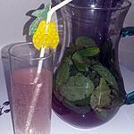 recette Boisson pétillante a la menthe et a la cerise