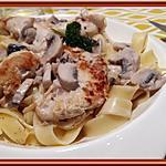 recette Tagliatelles et sauce crémeuse au porto