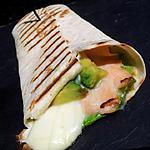 recette Wrap toasté au saumon avocat mozzarella