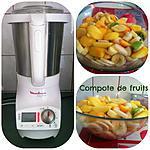 recette COMPOTE DE FRUITS FRAIS dans le SOUPE&CO