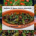 recette Jardinière de légumes aux haricots plats.basilic.