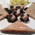 recette Petits gris au beurre d'escargots sur lit d'épinards