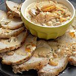 recette Rôti de porc abricots/romarin