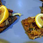 recette Nazkhatun (canapés d'aubergine)