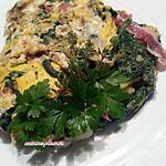 recette Omelette rustique aux épinards, Pdt, lard