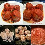 recette Boulettes 'sauce tomatée' à ma façon