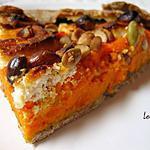 recette Galette carottes/chèvre à l'estragon et aux noisettes