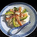 recette Chirashi saumon fumé-avocat-mozza(salade japonaise)