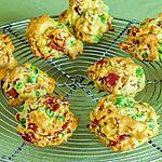 recette Cookies au jambon et petits pois