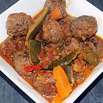 recette Tajine aux boulettes de boeuf (compatible dukan)