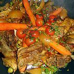 recette Tajine d agneau aux artichaut,petits pois,carottes