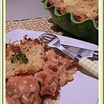 recette Gratin de pâtes au blanc de dinde et à la Mozzarella  de Notre amour de cuisine