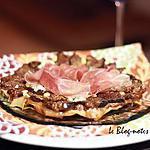 recette Tatin de figues caramélisées au balsamique sur filo, bleu et pignons