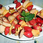 recette BROCHETTES DE FRUITS FRAIS POELEES AU MIEL