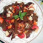 recette SALADE DE FRUITS AU CHOCOLAT