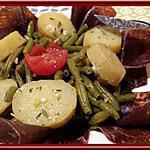 recette Salade de haricots verts à la viande de grison