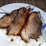 recette Rôtis de porc laqué au vinaigre noir