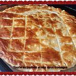 recette Tourte rustique au jambon et aux deux fromages