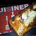 recette Cake de lasagnes à la bolognaise de chorizo-mozzarella