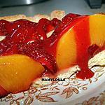 recette Tartes aux pêches et fraises au fraise curd