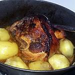 recette Jarret de porc confit a la bière et au baies de goji