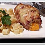 recette Escalopes de dinde roulées au cheddar et lard de jeanmerod