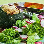 recette Courgettes farcies à la semoule et à la fêta