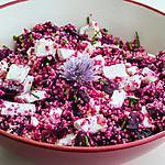 recette Salade de semoule, betterave et chèvre