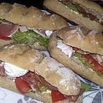 recette Sandwichs Ciabatta Italien