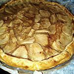 recette Tarte aux pommes sur crème d'amande
