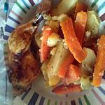 recette Cuisses de poulet et légumes au four