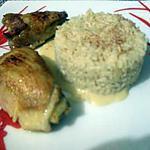 recette poulet a la moutarde et son riz.