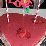 recette Bavarois aux fraises Cœur pour la fête des pères